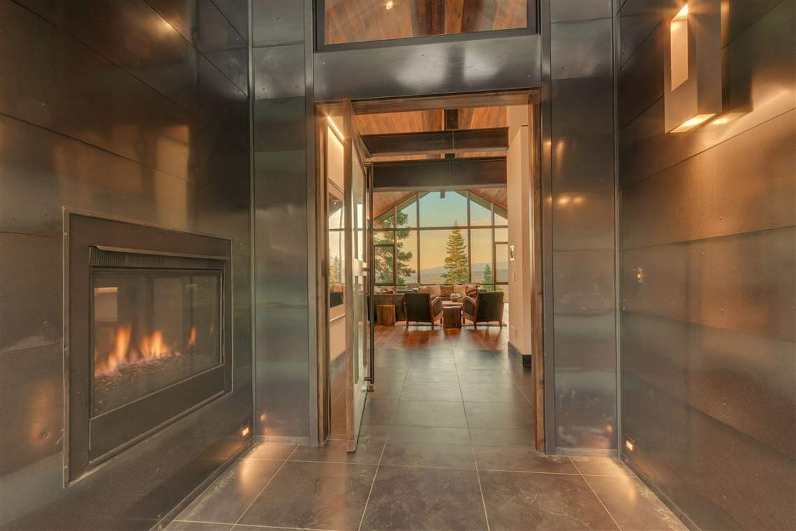 Mountainside Interior Entry Fireplace