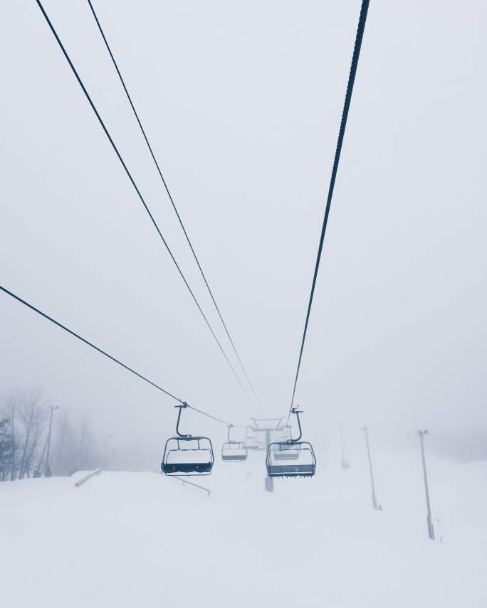 Ski lift Blizzard Whiteout Laurie Ann Robert