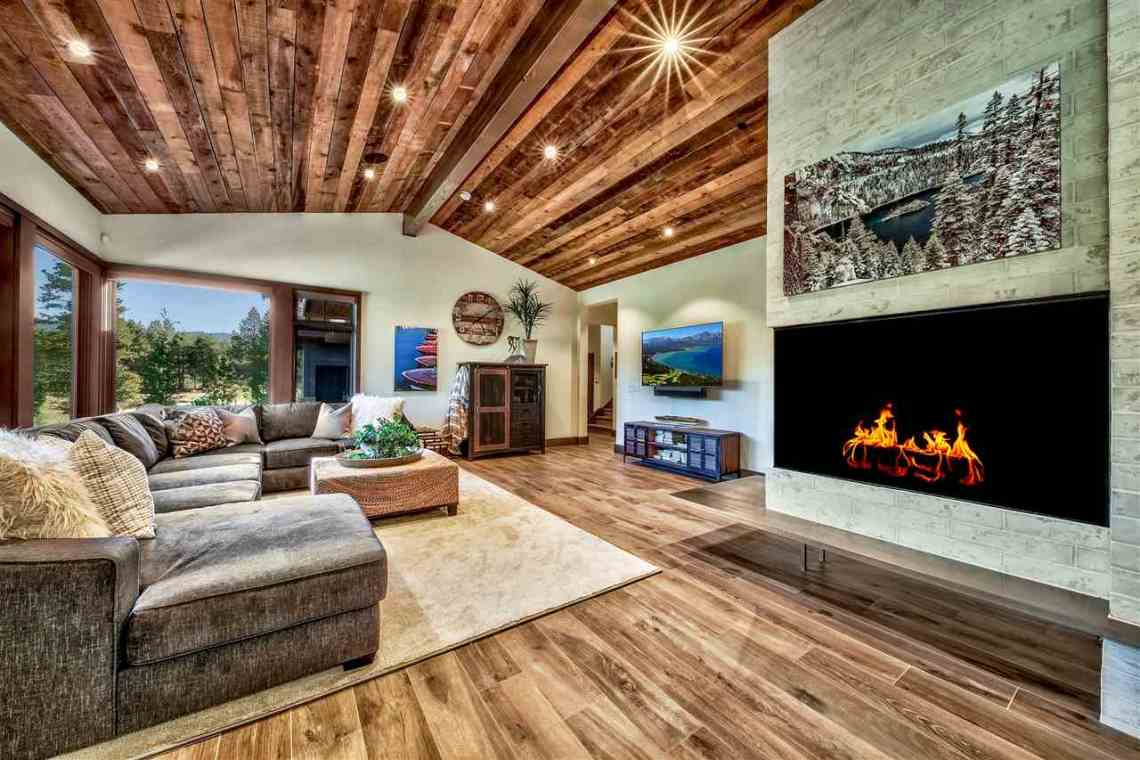 Lahontan Interior Stonestack Fireplace Living