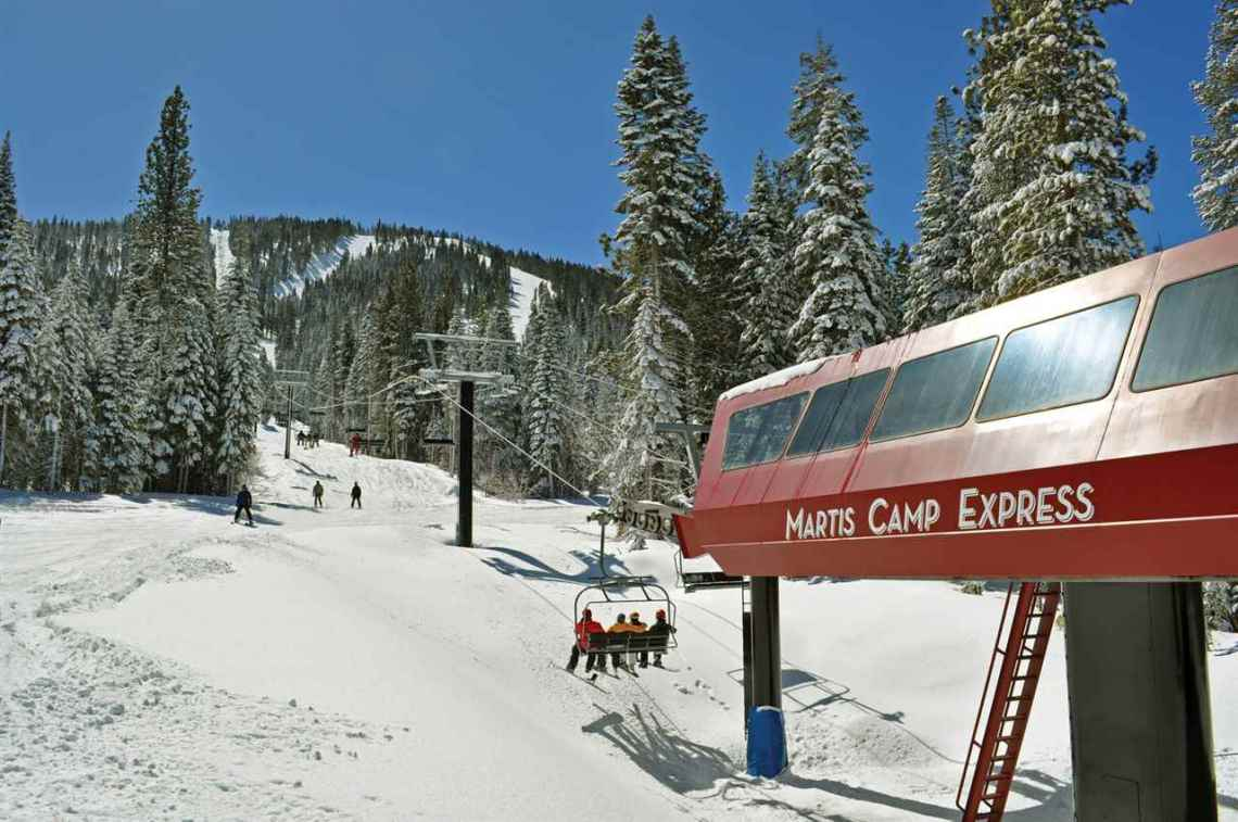 Martis Camp Express Chair Lift Ski