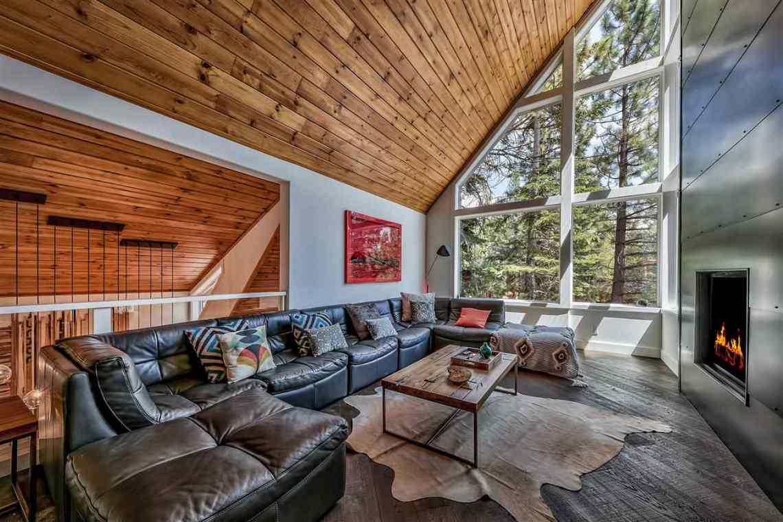 Tahoe Donner Modern Mountain Living Room