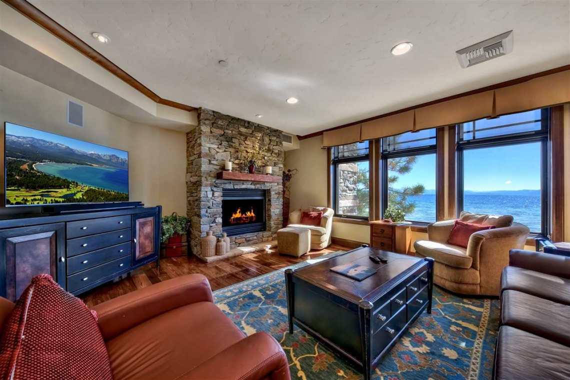 Tonapolo Lakefront Living Room View Tahoe
