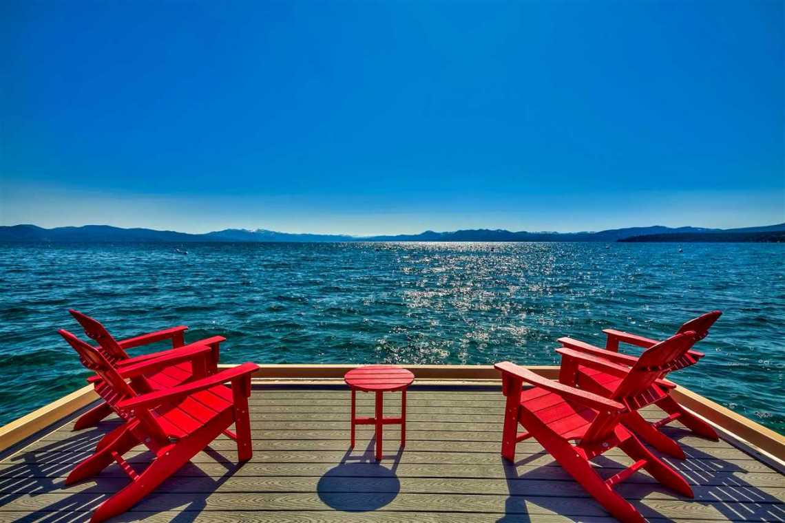 Tonapolo Lakefront Dock Chairs Tahoe
