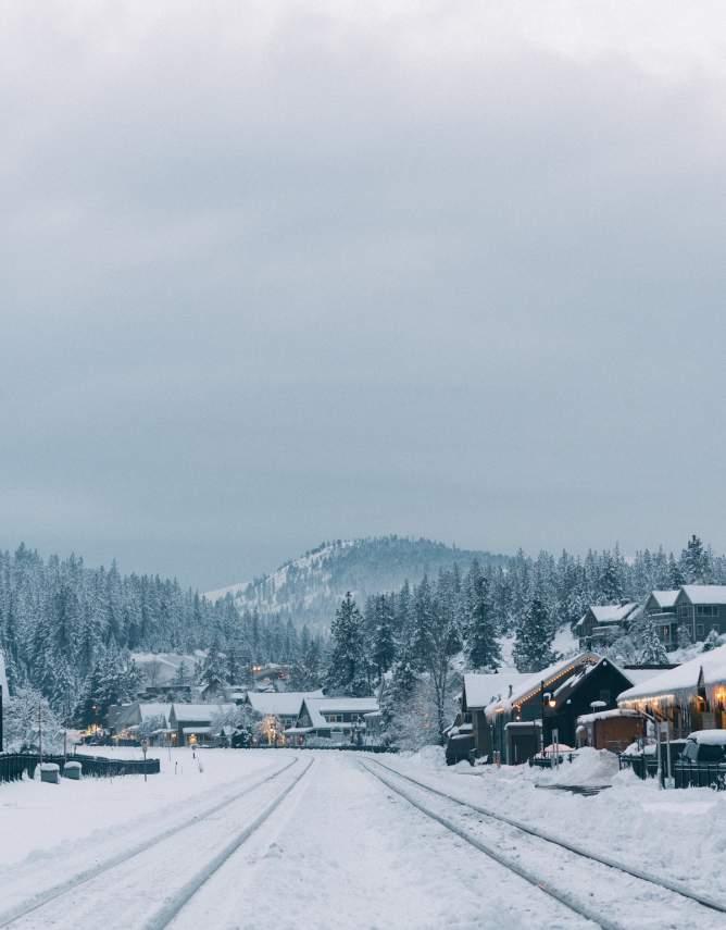 Truckee Historic Downtown Snowy View Wil Stewart